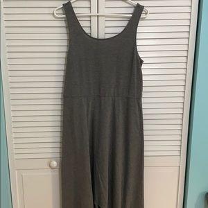 Hi low  dress in gray